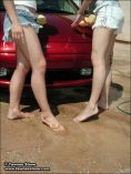 Watch these two as they wash a car and strike a pose. from Tori Stone